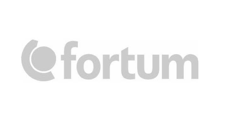 Gray Fortum logo