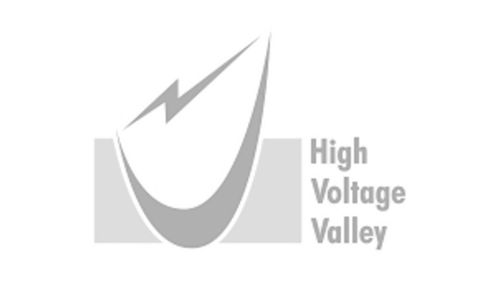 Gray High Voltage Valley logo